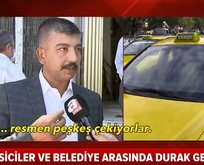 Ankara'da taksiciler belediyeye karşı ayaklandı