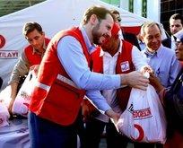Bakan Albayraktan Endonezyadaki felaketzedelere yardım eli