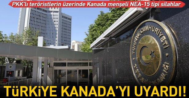 Türkiyeden Kanadaya silah uyarısı!