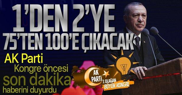 AK Parti'den flaş karar! Sayı 2'ye çıkarılacak