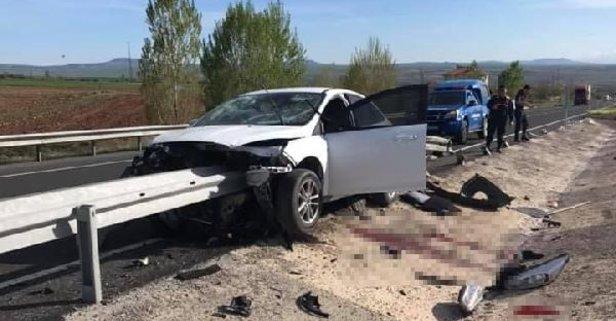 Korkunç kaza! Sürücünün bacağı koptu