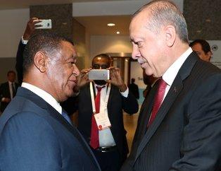 Başkan Erdoğan ile Etiyopya Cumhurbaşkanından samimi görüntüler