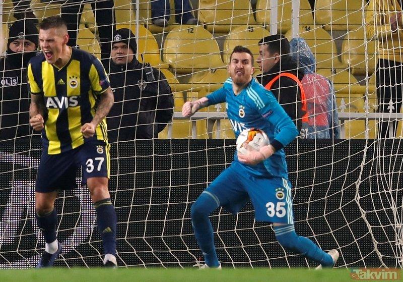 Fenerbahçe - Zenit maçında Harun Tekin'den müthiş kurtarış!
