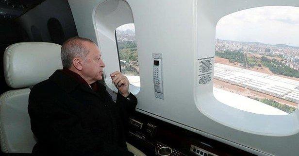 Başkan Erdoğan o camide inceleme yaptı