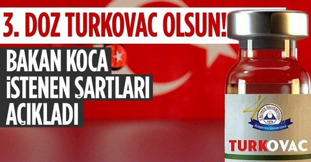 Bakan Koca'dan flaş Turkovac açıklaması