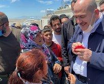 Bakan Soylu İdlib'de: 35 bin ev nihayete erdirilmiştir