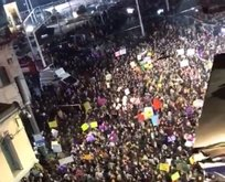 Taksim'de feministler'den ezana küstah saygısızlık!