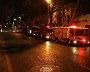 Galatasaray Üniversitesinde korkutan yangın