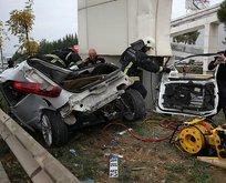Bursa'da feci kaza! İbre 180'de takılı kaldı
