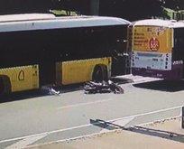 Otobüsün altında metrelerce sürüklendi