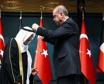 Erdoğan, Kuveyt Emirine devlet nişanı tevcih etti