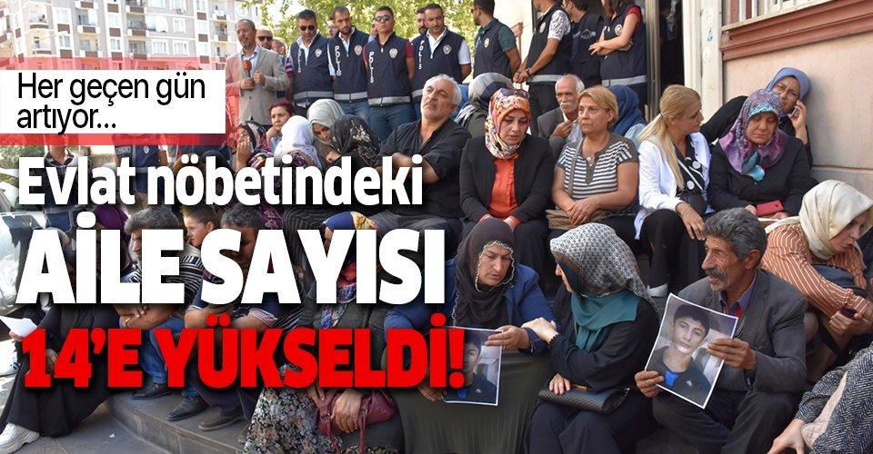 Diyarbakır'da HDP binası önündeki ailelerin sayısı gün geçtikçe artıyor! Evlat nöbetindeki ailelerin sayısı 14'e yükseldi!