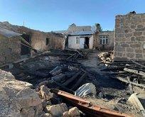 Kars'ta bir köy alevlere teslim oldu! Küle döndüler