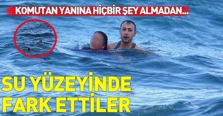Karadeniz'in buz gibi sularına atlayan kadını canı pahasına böyle kurtardı