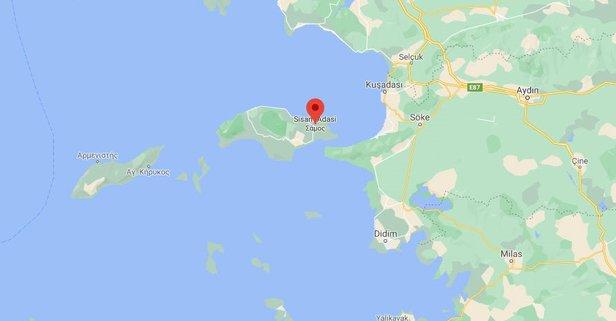 Sisam Adası nerede?