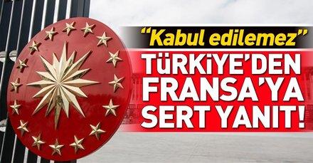 Türkiyeden Fransız bakana sert yanıt!