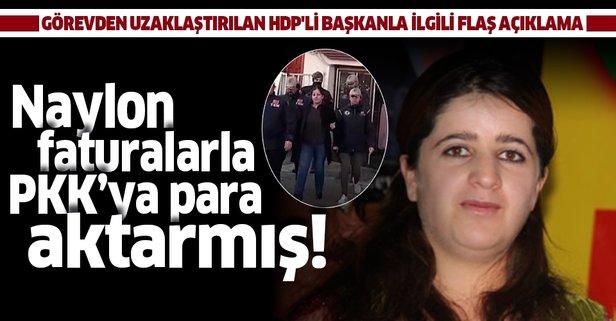 Görevden uzaklaştırılan HDP'li başkanla ilgili flaş açıklama