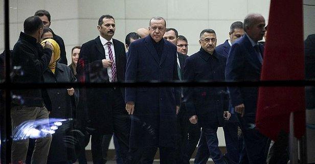 Başkan Erdoğan Ankara'ya geldi