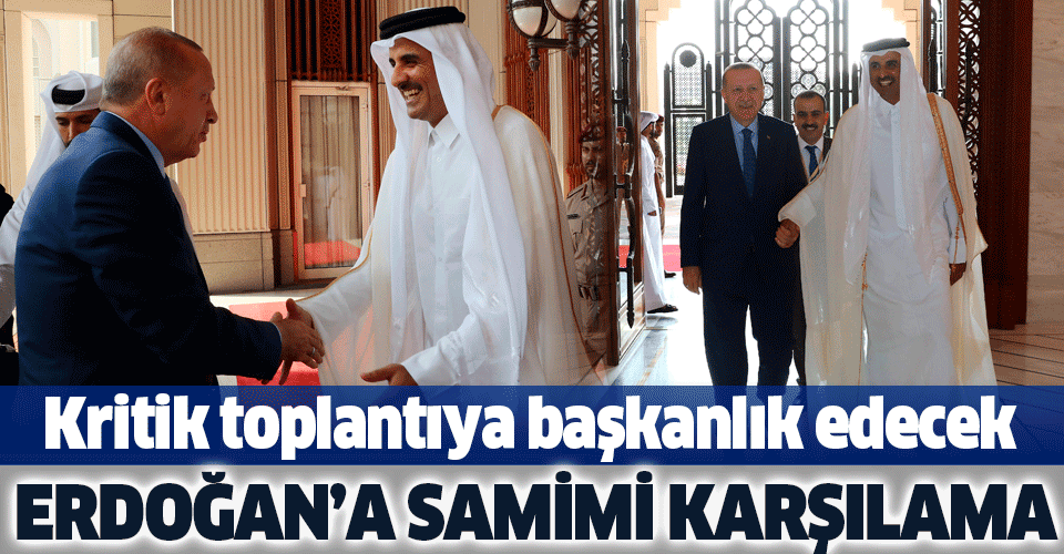 Başkan Erdoğan, Katar Emiri Şeyh Temim Bin Hamed Al Sani ile görüştü