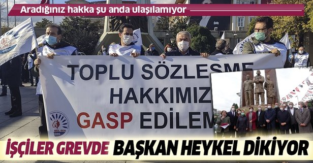 CHP'li belediyede toplu sözleşme protestosu