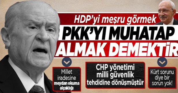 Bahçeli'den HDP ve CHP'ye sert sözler