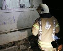 İstanbul'da bir binanın tabanında çökme oldu!