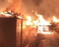 Kastamonu'nun Tepeharman köyünde yangın!