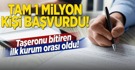 Taşerona kadroya 1 milyon başvuru