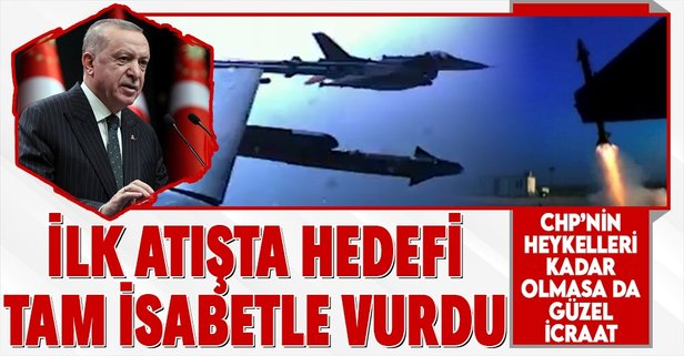 Başkan Erdoğan açıkladı: İlk atışta tam isabet