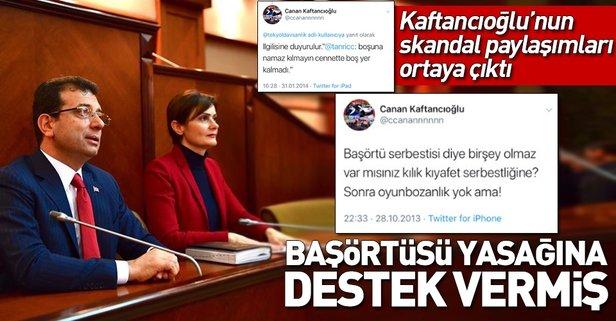 CHP'li Kaftancıoğlu başörtüsü yasağına destek vermiş