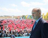 Erdoğan'dan Malazgirt'te tarihi mesajlar