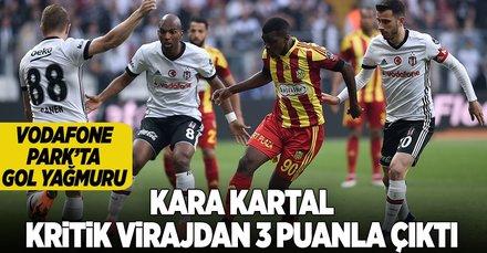 Beşiktaş, Yeni Malatyaspor'u 3-1 mağlup ederek 3 puanı kaptı