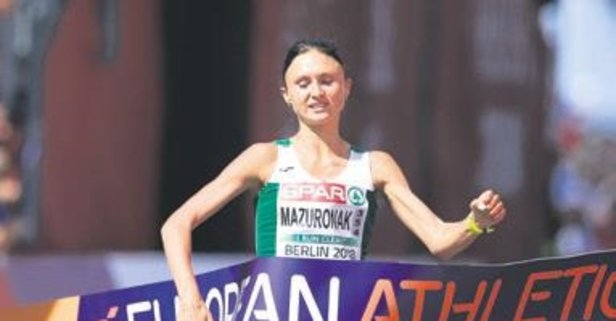 Volha Mazuronak maratonda şampiyon