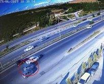 Tuzla'daki feci kaza kamerada