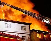 Doğalgaz faciası! 7 ev tamamen yandı
