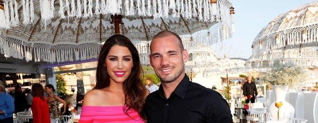 Galatasaray'ın eski yıldızı Wesley Snijder 9 yıllık eşi Yolanthe Cabau ile barışabilmek için bakın ne yaptı...
