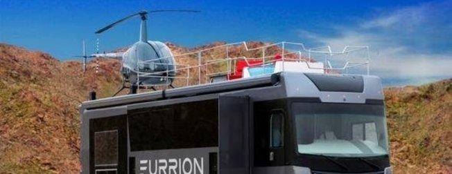 Helikopterli karavan görenleri şoke ediyor