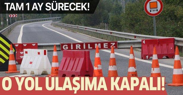 Bolu Dağı tüneli Ankara istikameti 32 gün kapalı
