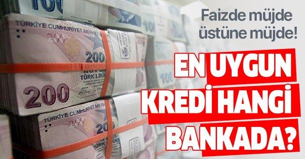 Faizde müjde üstüne müjde! En uygun kredi hangi bankada?