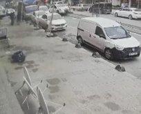 Arnavutköy'deki kaza kamerada
