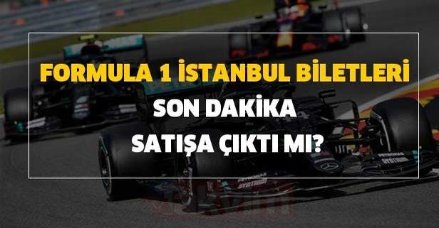 Formula 1 İstanbul biletleri son dakika satışa çıktı mı?