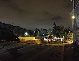 Ümraniyede metro inşaatı yakınında göçük