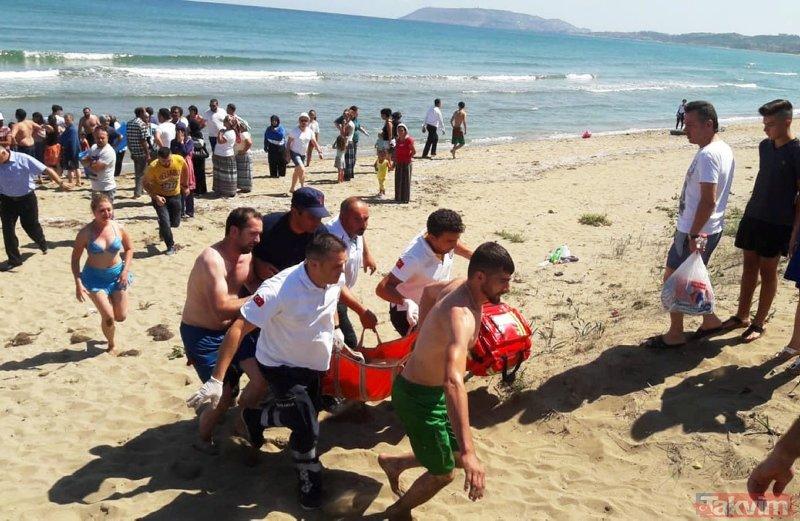 Boğulma tehlikesi geçiren kardeşlere sahil güvenlik yetişti!