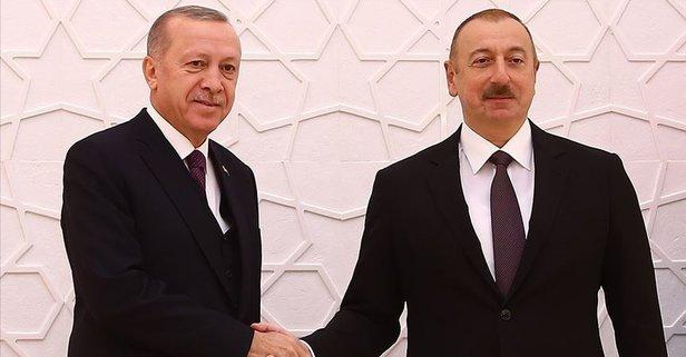 Aliyev'den Başkan Erdoğan'a telefon