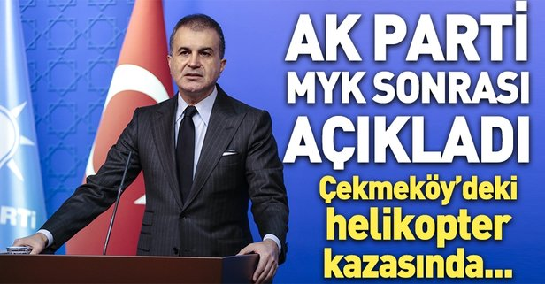 AK Parti'den düşen helikopterle ilgili ilk açıklama
