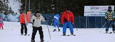 Anadolu'nun 'yüce dağı'nda kayak keyfi