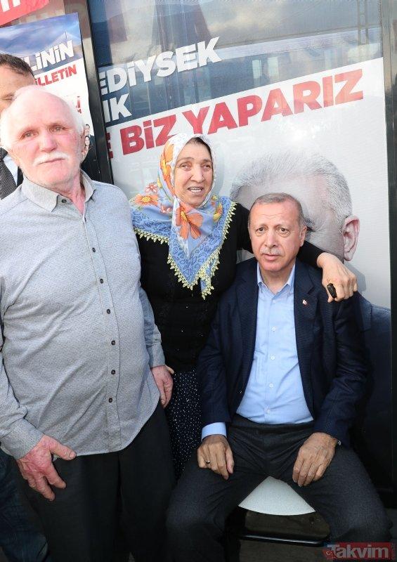 Başkan Erdoğan'dan AK Parti ve MHP seçim bürolarına ziyaret