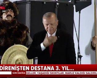 Başkan Erdoğan tek tek selamladı