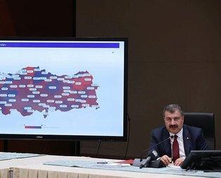 Sağlık Bakanı Fahrettin Koca  illerin koronavirüs verilerini paylaştı! İşte en yüksek vaka artışı olan iller...