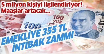 Emekliye 355 TL intibak zammı! SSK SGK ve Bağkur emekli maaşı intibak zammı sonrası ne kadar olacak?